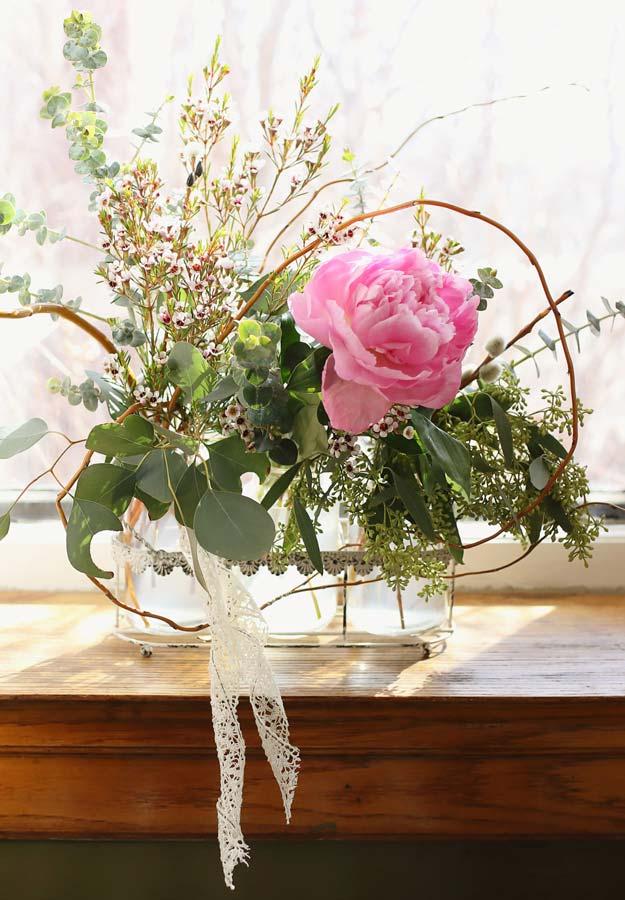 Modern Pink Peony Floral