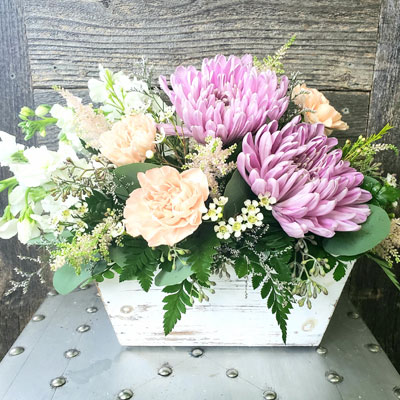 Pink and Peach Fresh Flowers
